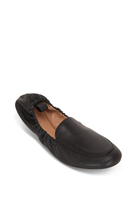 Gianvito Rossi Black Nappa Leather Flat