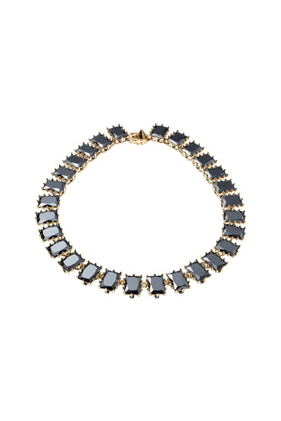 Eddie Borgo - Brass Plate Jet Rectangle Estate Necklace