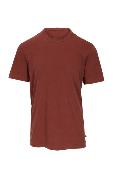 James Perse - Red Earth Short Sleeve Crewneck T-Shirt