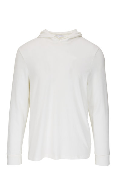 James Perse - White Stretch Cotton Hoodie
