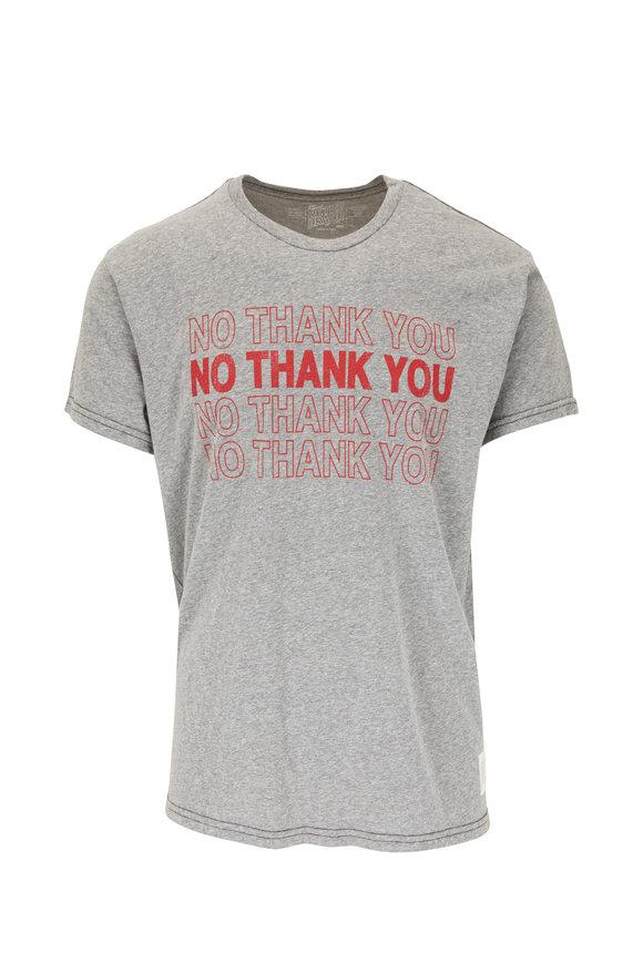 Retro Brand Gray Graphic T-Shirt