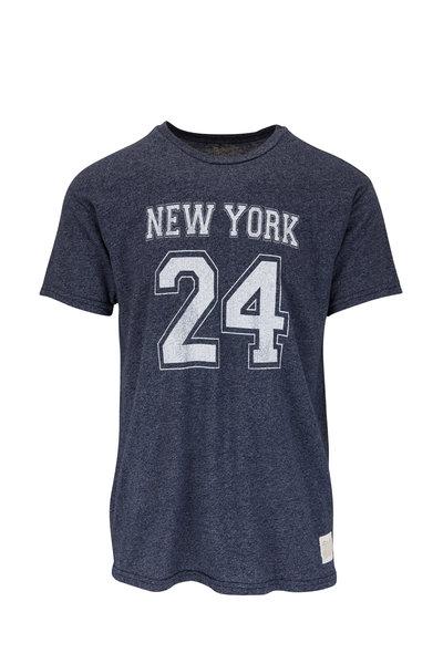 Retro Brand - Navy Blue Heather Graphic T-Shirt