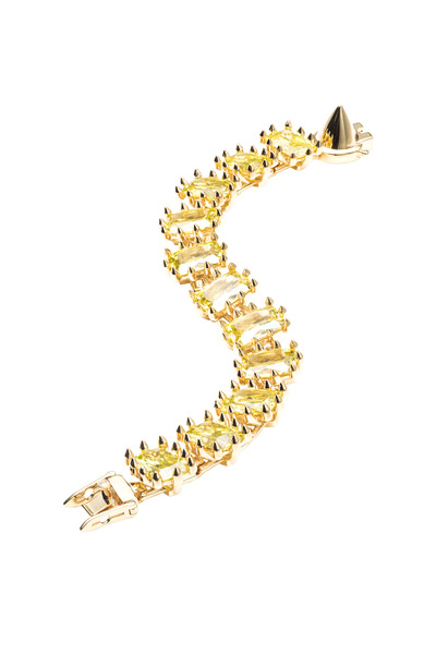 Eddie Borgo - Brass Plate Yellow Rectangle Estate Bracelet