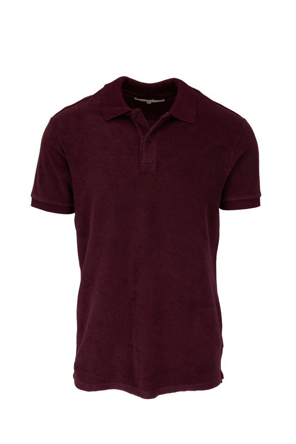 Orlebar Brown Ryder Dr. No Plum Terry Polo