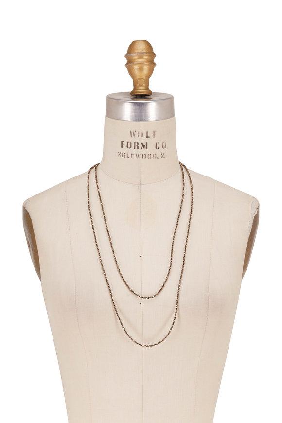 Brunello Cucinelli Bronze Pyrite Bead Wrap Convertible Necklace