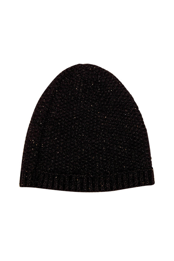 Lafayette 148 New York Black Multi Cashmere Hat