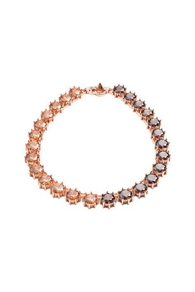 Eddie Borgo - Brass Plate Dark Orange Circle Estate Necklace