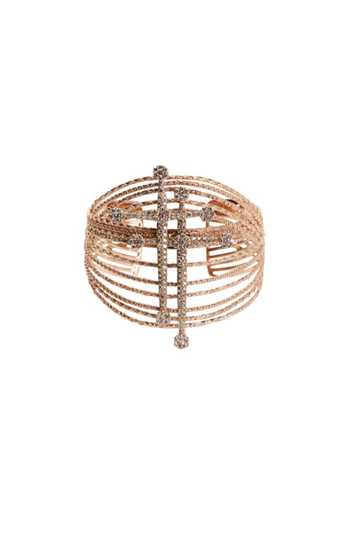 Bochic - Rose Gold Diamond Sword Cuff Bracelet