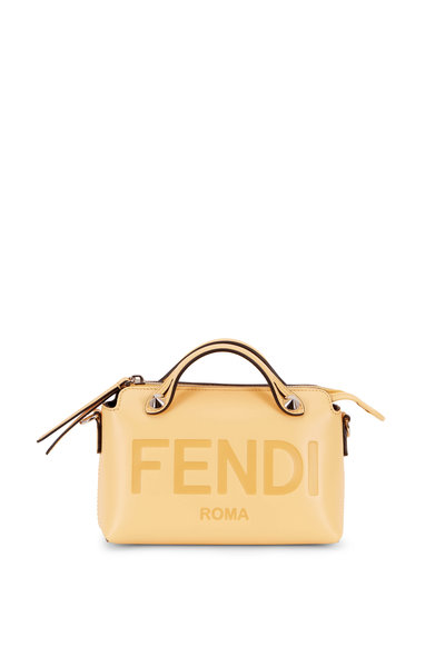 Fendi - By The Way Mini Yellow Logo Stamp Shoulder Bag