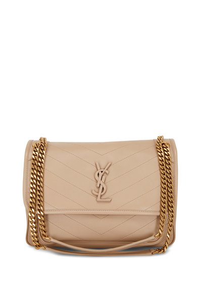 Saint Laurent - Niki Monogram Beige Leather Medium Chain Bag