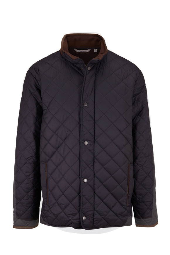 Peter Millar Suffolk Black Quilted Coat