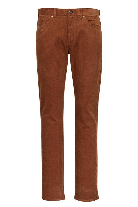 Peter Millar Brown Soft Corduroy Five Pocket Pant
