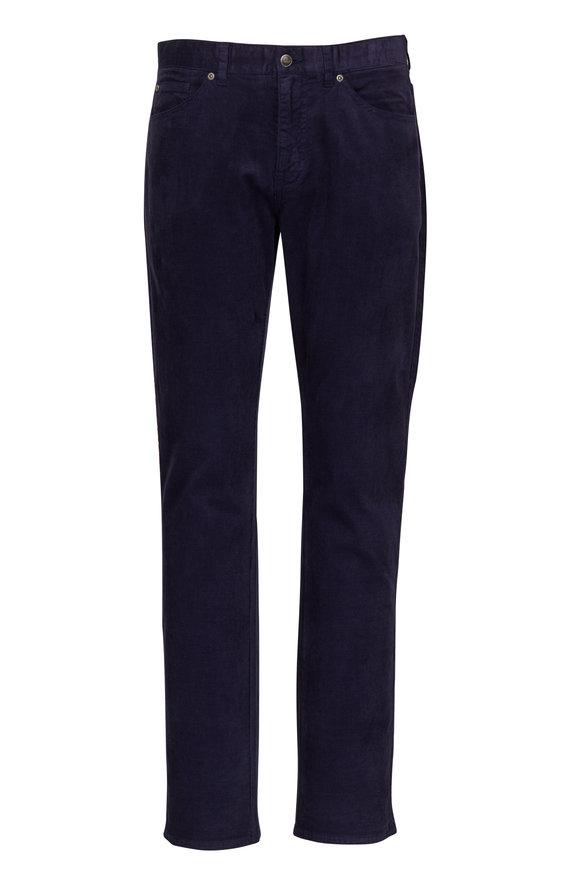 Peter Millar Navy Soft Corduroy Five Pocket Pant