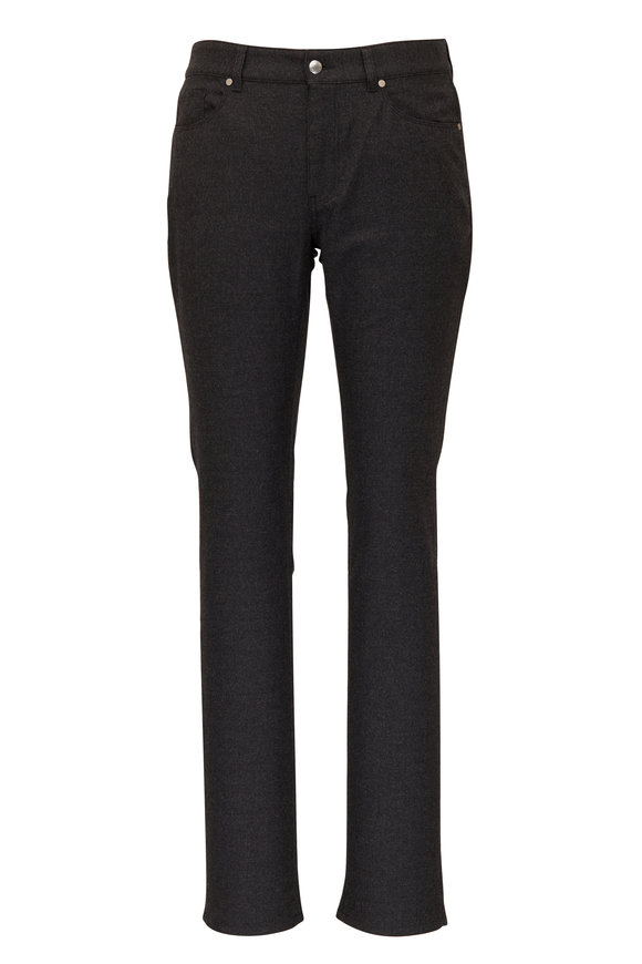 Peter Millar Charcoal Gray Alpine Wool Five Pocket Pant