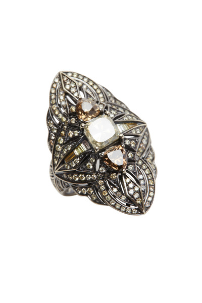 Bochic - White Gold Fancy Diamond Ring