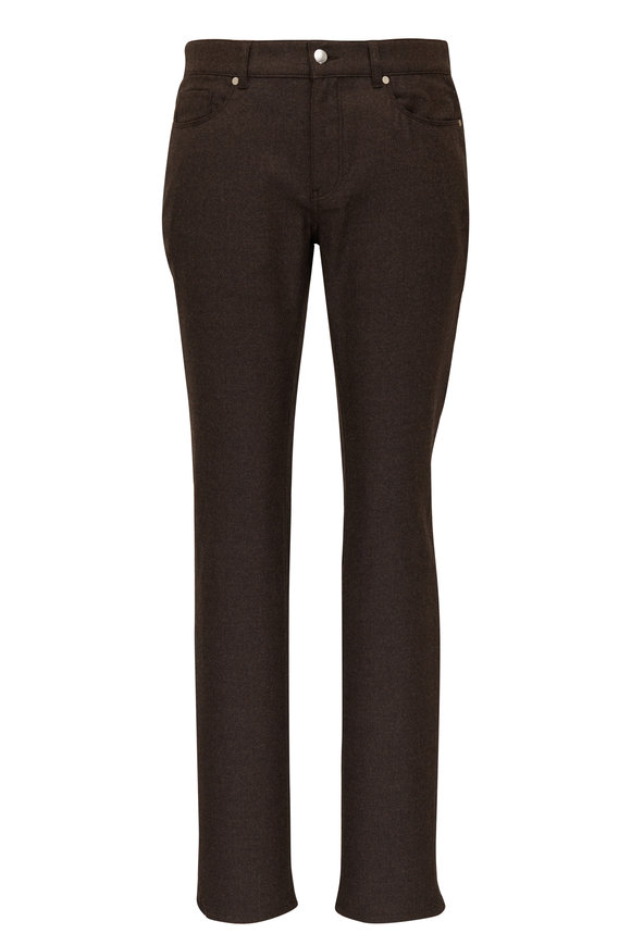 Peter Millar Brown Alpine Wool Five Pocket Pant