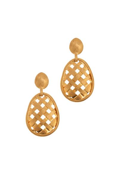 Yossi Harari - Rattan Yellow Gold Earrings