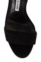 Manolo Blahnik - Vergasli Black Suede Slingback, 90mm