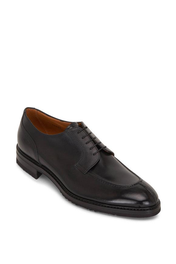 Gravati Black Leather Lace-Up Dress Shoe