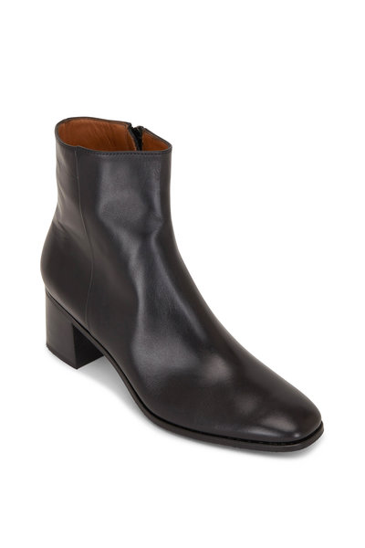 Gravati - Black Leather Side Zip Boot, 50mm
