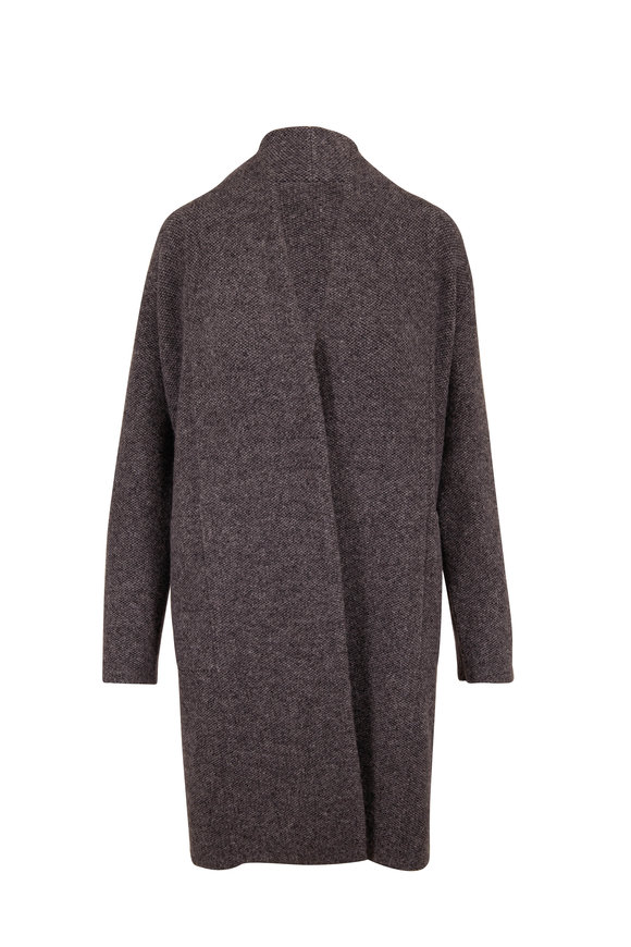 Vince Heather Gray Boucle Cardigan Coat