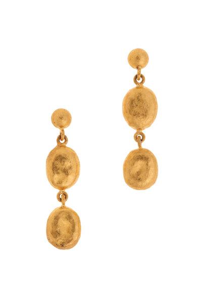Yossi Harari - 24K Yellow Gold Roxanne Drop Earrings