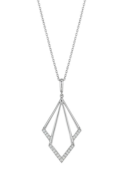 Penny Preville - White Gold Fire Bolt Diamond Enhancer Necklace