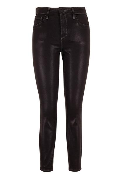 L'Agence - Margot Noir Contrast Coated High-Rise Skinny Jean