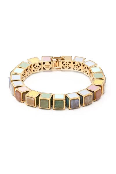 Eddie Borgo - Jade, Quartz & Agate Inlaid Cube Bracelet