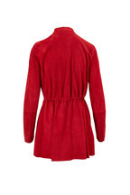 Lafayette 148 New York - Marlow Garnet Suede Belted Jacket