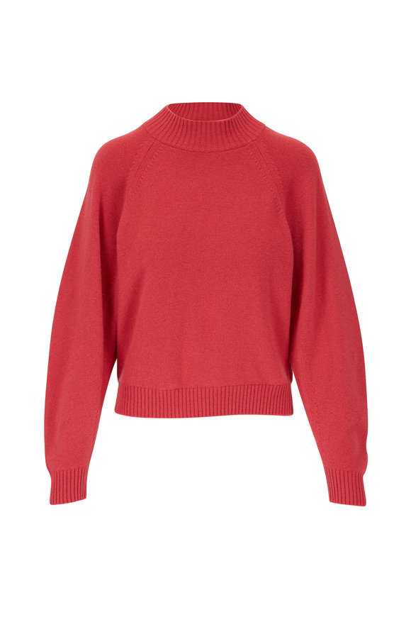 Lafayette 148 New York Sorbet Cashmere Raglan Sleeve Sweater