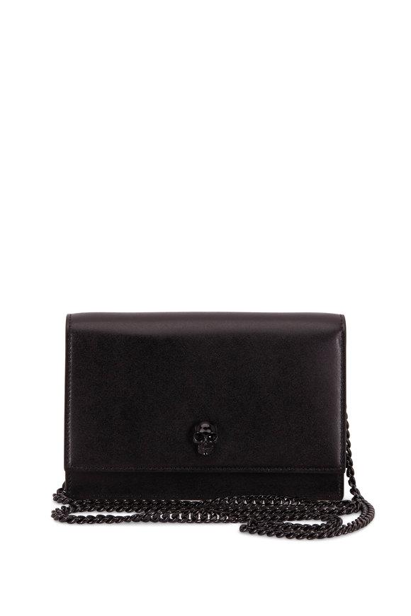Alexander McQueen Skull Black Smooth Leather Mini Bag