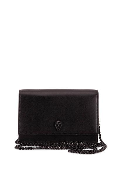 Alexander McQueen - Skull Black Smooth Leather Mini Bag