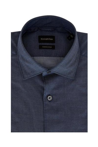 Ermenegildo Zegna - Blue Premium Cotton Sport Shirt