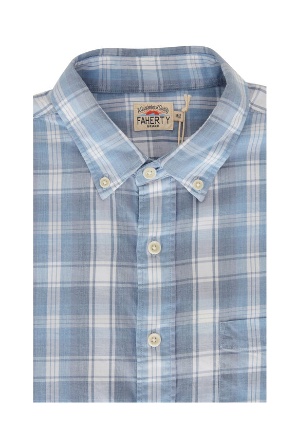 Faherty Brand Movement Marina Plaid Button Down Shirt