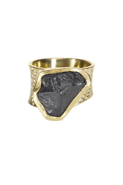 Todd Reed - Yellow Gold Black & Fancy Diamond Ring