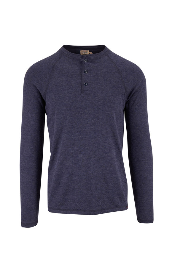 Faherty Brand Navy Heather Cloud Henley