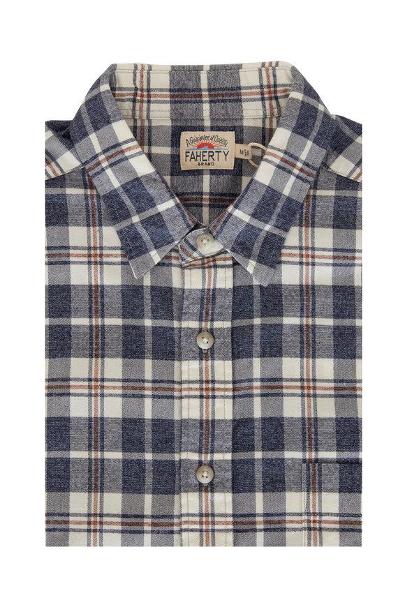 Faherty Brand Rainier Plaid Featherweight Flannel Sport Shirt