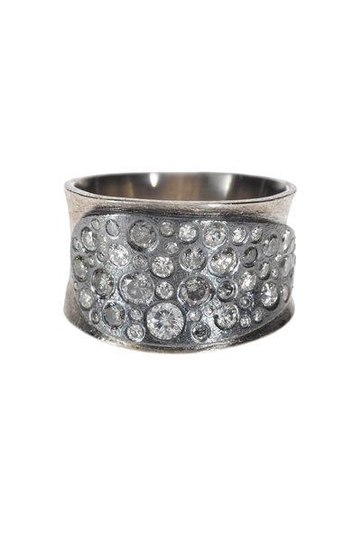 Todd Reed - Palladium Silver White & Gray Diamond Ring