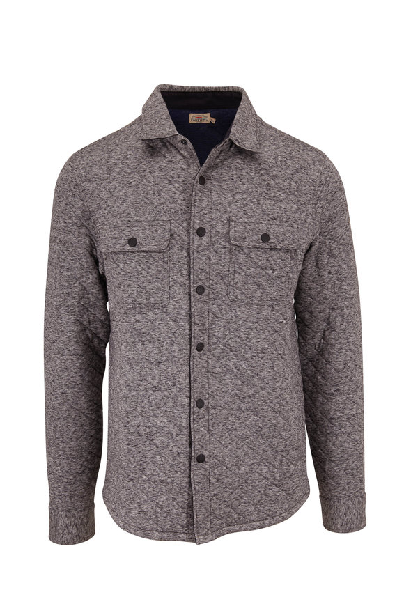 Faherty Brand Epic Carbon Melange Quilted Overshirt
