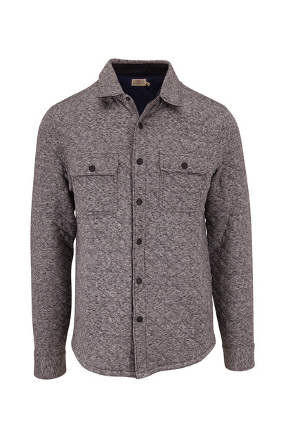 Faherty Brand - Epic Carbon Melange Quilted Overshirt