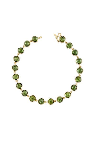 Irene Neuwirth - Yellow Gold Green Tourmaline Bracelet