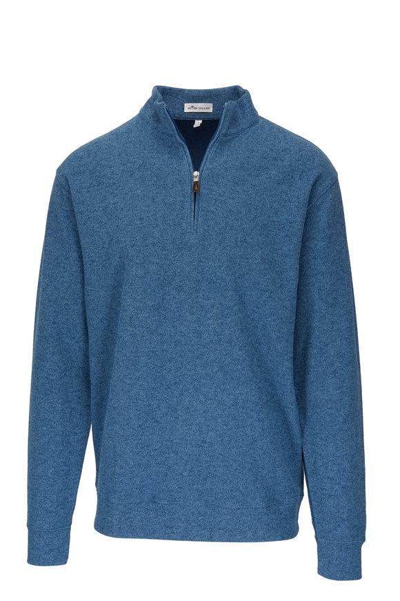 Peter Millar Arnie Blue Quarter-Zip Pullover