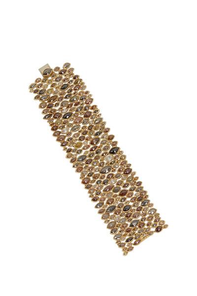 Todd Reed - Yellow Gold Fancy Diamond Bracelet