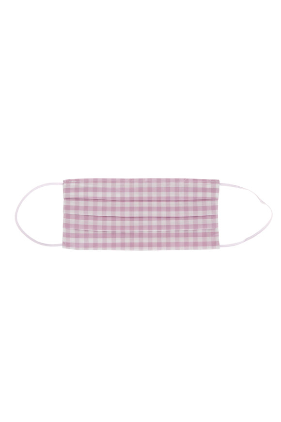 Made by Hand Lavender & White Gingham Mask