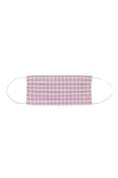 Made by Hand - Lavender & White Gingham Mask