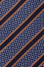 Ermenegildo Zegna - Blue Geometric Design Silk Necktie