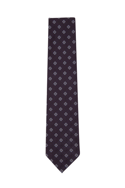 Ermenegildo Zegna - Blue Medallion Silk Necktie