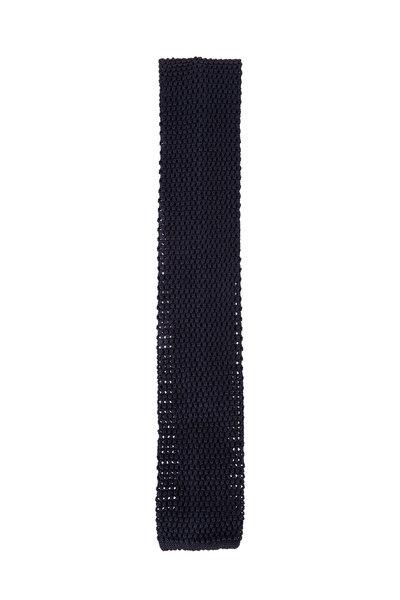 Ermenegildo Zegna - Navy Knit Silk Tie