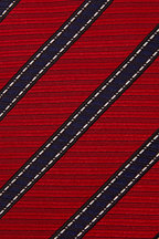 Ermenegildo Zegna - Red & Blue Diagonal Stripe Silk Necktie